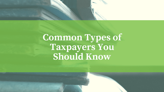Common Types Of Taxpayers