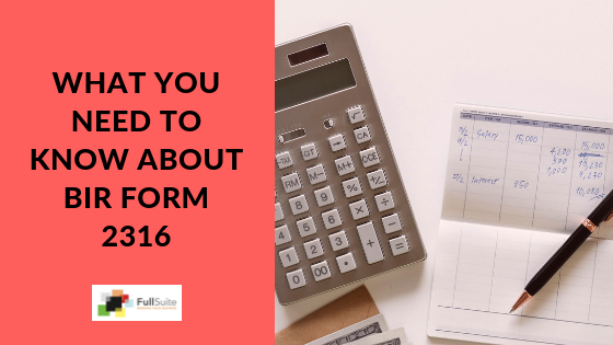What You Need to Know about BIR FORM 2316