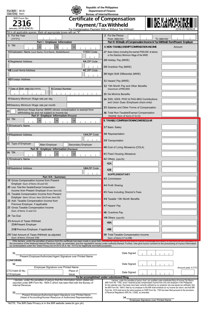 Ultimate Guide On How To Fill Out Bir Form 2316
