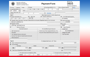 eBIRForm 0605 - Payment Form